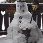 Le bonhomme de neige, Megève, Haute-Savoie, Rhône-Alpes, France. thumbnail