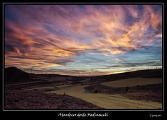Atardecer desde Medinaceli (Pogdorica) Tags: atardecer colores cielo nubes medinaceli flickraward cruzadasgold cruzadasi