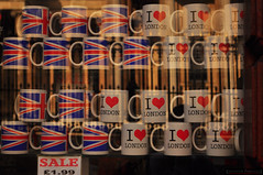 Mugs in a shop window