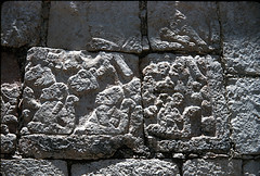 Detail, Temple of the Tablets, Chichen Itza (SMU Central University Libraries) Tags: mexico maya yucatan temples carvings reliefs chicenitza mayanart mayanindians templeofthetablets