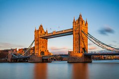 London - Grand Crossing (John & Tina Reid) Tags: greatbritain winter sunset london architecture unitedkingdom theriverthames twlight londontowerbridge jonreid londonattractions tinareid nomadicvisioncom