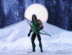 (Keldon Edwards) Tags: lighting new moon snow canon actionfigure 50mm gimp super hero justiceleague d60 greenarrow strobes