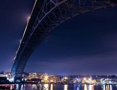 Aurora Bridge (Cmerchant1) Tags: seattle bridge blue night evening washington arch purple queenanne fremont aurorabridge downtownseattle highway99 sr99 georgewashingtonmemorialbridge auroraaven cmerchant1 cmerchantphotography