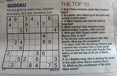 #78 Hard or tough (Jacqi B) Tags: newspaper sudoku 78 quiz 112picturesin2012 78hardortough 112201278