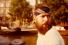 ICP August 1973 pic03 (streamer020nl) Tags: amsterdam drums canal drummer 1973 icp gracht hanbennink
