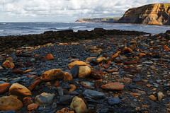 Iron Ore at Port Mulgrave.. (*Debi) Tags: sea beach seaside rocks waves rusty cliffs ironore clifftop portmulgrave