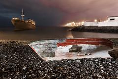 Nautical Graveyard (MarkE_T) Tags: beach lanzarote longexposure milkywater night pentaxk10d smcpentaxda1645mmf4edal shipwreck