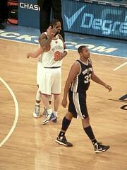 J.R. Smith Thanks Pablo Prigioni for the Perfect Pass (MattBritt00) Tags: nyc newyorkcity ny newyork sports basketball sanantonio spurs manhattan bball knickerbockers hoops msg madisonsquaregarden nba knicks nationalbasketballassociation nyk jrsmith pabloprigioni