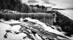 Winter Waterfall (Wilks2010) Tags: blackandwhite slowshutter cottoncandy topaz ponagansettfalls