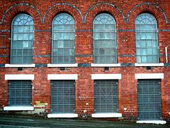 Factory Project #2 (PeteZab) Tags: nottingham uk windows england urban texture factory victorian churchstreet 2012 redbrick basford bluebrick panasoniclumixdmctz1 petezab peterzabulis