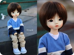 Happy birthday! (Arisuyuki) Tags: boy asian doll body innocent makeup bjd dollfie eiri spiritdoll faceup dollmore yosd babylamb eirien babylambmiadoll miasbabydollaga dollmoreaga arisuyuki