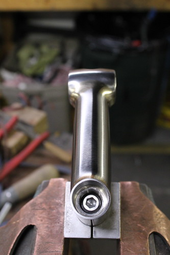 recessed quill bolt and threaded insert brazed into place