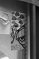 UWP x PNUB (damonabnormal) Tags: street city blackandwhite bw streetart philadelphia sticker stickerart stickers january urbanart pa philly phl urbanite stickergraffiti uwp underwaterpirates 2013 the215 pnub