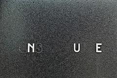 N              U     E (Me.Ex.Mu.) Tags: white black glass station belgium belgique belgië railway letter zwart wit glas mechelen flanders beweging malines spoorweg vlaanderen nmbs stationsbuffet infrabel mechelenextramuros mecheleninbeweging meexmu