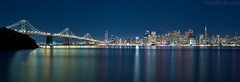 San Fransisco Skyline (RickrPhoto) Tags: california bridge rose skyline one bay san francisco long exposure nightscape rick hasselblad h2 phase p45 rickrphoto