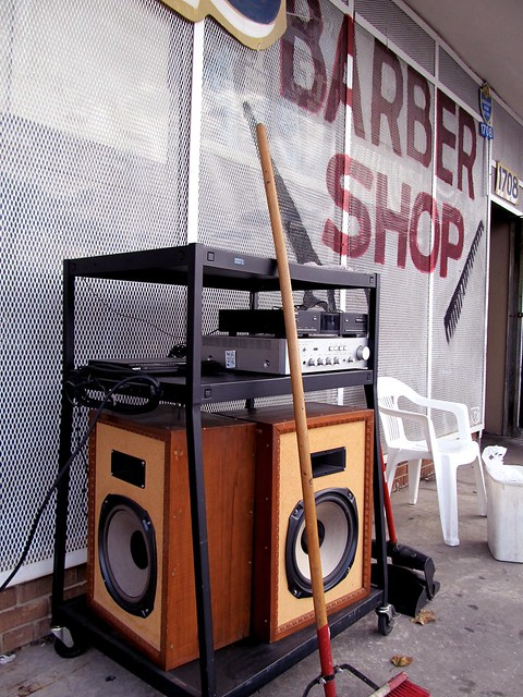 My new dream sound system (broom included).