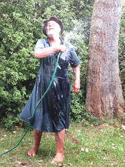 Blue denim getting wet four (Jack Williams) Tags: new newzealand male men wet fashion fun freestyle frolic dress auckland dresses skirts fashions meninskirts wetlook skirted meninfrocks frocks frolics menindresses mandress wetdress malefashion wetguy