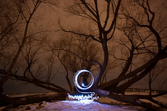 Ghost Writer (The Cleveland Kid) Tags: longexposure light lightpainting tree love colors wisconsin circle lights long exposure madison wi ghostwriter lightorbs madison365