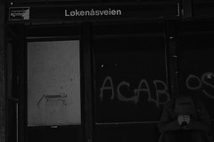 Who am I (Torjus Sonerud) Tags: boy white black bus canon 50mm blackwhite sad busstop stop f18 manfrotto canon50mm 60d canon60d