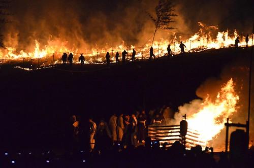 Bonfire + Grassfire at Wakakusa Yamayaki