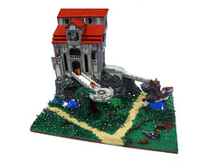 Andormar Pantheon (Glory_Forever) Tags: castle church rock pond ship cows lego path floating meeting portal brickabrack brickfair gloryforever