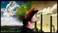 Smoke explosion (Denny Lambo) Tags: color photoshop relax explosion photomontage fotomontaggio riflessione