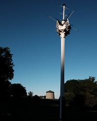 Now that's a birdhouse | 215/366 (emrold) Tags: 2aug16 366the2016edition 3662016 day215366 classicchrome plainsofabraham quebec quebecroadtrip2016 sooc birdhouse fleetinglight lowsun silhouette tower trees lensblr 2016ericdelorme|emrold xf16mmf14rwr photographersontumblr fujifilmxt1