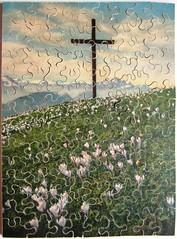 Krokusfeld am Rigi (Leonisha) Tags: puzzle jigsawpuzzle krokus crocus rigi cross kreuz penelope