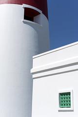 Lighthouse Geometry (_mr_dave_) Tags: portland portlandbill dorset lighthouse sun sunshine summer red green white blue sea seaside coast jurassiccoast window lines geometry shapes sonya7rii sonyalpha fe55mmf18 sonnart carlzeiss zeiss building sky light stripes
