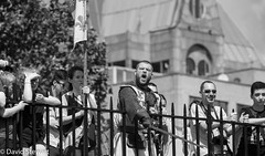 'You call me an animal, let me show you the beast I can be' (Dave_G_Stewart) Tags: london toweroflondon towerbridge medieval knights fighting action history defending attack bw canon eos5mkiii 400mm