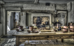 New Inn, Kitchen, Stowe 2 (Darwinsgift) Tags: new inn stowe gardens national trust interior kitchen buckinghamshire hdr photomatix pro 5 voigtlander 20mm f35 color skopar slii history old vintage antique