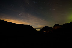 After work (Ingefr) Tags: stars landscape northernlights longexposure moon night sweden canon mountains
