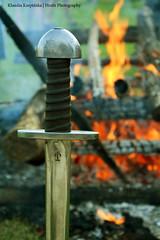 Sword of a Fallen Warrior (Hrafn Photography) Tags: carpathiantroyedd ehd europeanheritagedays europejskiednidziedzictwa historicalreenactment nikond7100 openairmuseum schwert slav slavicwarriorfuneral sword vikingagereenactment
