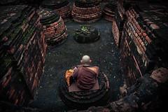 Buddhist monk praying at Sarnath (Partha Dalal) Tags: buddha buddhism buddhist lama sarnath parthadalal parthadalalphotography monk praying meditation varanasi kashi uttarpradesh india indianculture