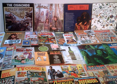 1970 - 1973 : (Retro King) Tags: 1972 records vinyl albums 1970 osmonds books 1971 comicbooks marvel peanuts mad 1973 magazines comics alice cooper vintage collectables 1970s