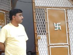 Swastika on Delhi Doorway, India (CultureWise) Tags: swastika india symbols