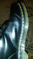 20160823_224451 (rugby#9) Tags: dm feet wear cushioned comfort sole cushion dms docmartens lace original soles bouncing doctormarten docs doc eyelets icon boots drmartensboots dr martens drmartens airwair air wair yellow stitching yellowstitching 10 hole 10hole size7 7 1490 black shoe footwear boot indoor