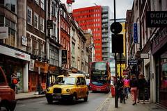 Denmark Street (333 Half Evil) Tags: sony alpha nex nex5n london city street canon fd manual mf legacy 28mm wide taxi bus music