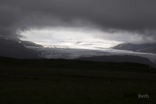Skaftafell glacier. Iceland