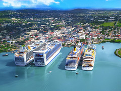 Welcome to the St. John's Harbour. The site of Antigua's Duty free Shopping district. (conciergeantiguabarbuda) Tags: antigua cruiseship boat shopping citizenship costacruiseline costa royalcaribbeancruise carnivalcruise dutyfree port harbour antiguabarbuda citizenshipbyinvestment investment passport barbuda cip cbi travel