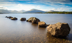Loch Lomond Stepping Stones (ReevesWild) Tags: loch lomond lochlomond scotland longexposure leefilters rocks lake landscape natural water sky mountain