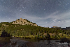 Gros Ventre Moonlight (kevin-palmer) Tags: grosventremountains granitecreek granitecreekcampground jackson wyoming fall autumn september nikond750 tokina1628mmf28 theopendoor water stream flowing night sky stars starry moonlight quartermoon clouds evening bridgertetonnationalforest pinetrees pinnacle astrometrydotnet:id=nova1733415 astrometrydotnet:status=failed