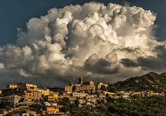 On A Sicilian Hilltop (anicoll41) Tags: patti sicilia italy it hilltoptown clouds sunshine