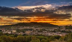 Pontypridd sunset (technodean2000) Tags: from top mountain pontypridd south wales uk nikon d5200 lightroom outdoor sunset road landscape dusk d60 d610