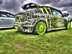 The Monster RS (RS400) Tags: car cars show tuning wow wicked hdr edit olympus green transport motor ford focus rs amazing south west castle combe uk