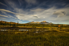 Nightime/Daytime (Peter Stahl Photography) Tags: mountains jasper nightscape stars bigdipper sky landscape skyline clouds mountain field outdoor serene cloud