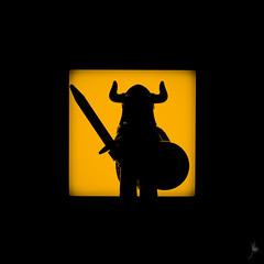 Shadow (239/100) - Hun (Ballou34) Tags: 2015 650d afol ballou34 canon eos eos650d flickr lego legographer legography minifigures photography rebelt4i stuckinplastic t4i toy toyphotography toys rebel 2016 stuck plastic photgraphy blackwhite light shadow enevucube minifigure 100shadows hun warrior sword helmet shield