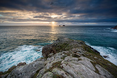 Pen Nanven (T_J_P) Tags: cornwall pen nanven rocks cliffs sea ocean sun sunset cloud brisons coast seascape