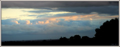 The only sun we saw this day. (fotograf1v2) Tags: clouds skyscape evening pakenham victoria australia earlyspring wintryweather landscape panorama