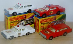 Matchbox Superfast Mercurys (Vintage Toy Collection) Tags: matchbox lesney superfast mercury firechief policecar vintagetoy oldtoy